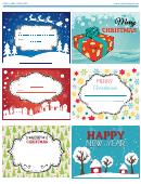 Various Christmas Label Templates