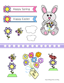 Easter Bunny Pop Up Card Template