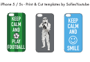 Keep Calm And Stormtrooper Iphone 5/5s Case Template
