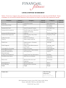 Living Expense Worksheet - Financial Fitness