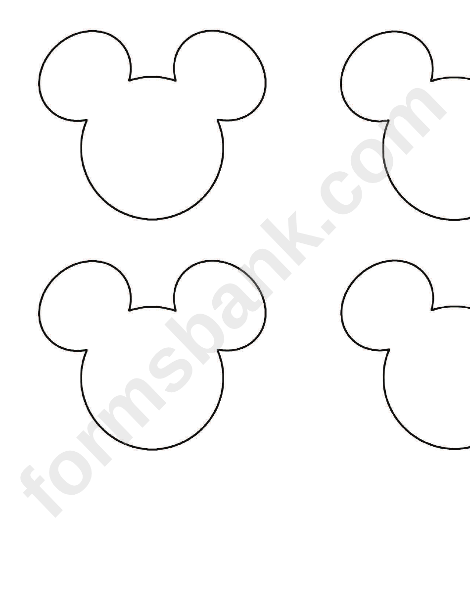 Mickey Mouse Head Silhouette Template Printable Pdf Download