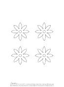 8-petal Flower Template