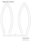 Bunny Ear Pattern Template