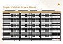 Super Cricket Score Sheet Template