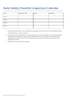 Daily Safety Checklist Template