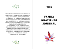 Family Gratitude Journal Template