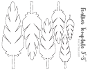 Feather Set Template - 5 Different Types And Sizes