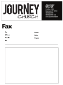 Journey Church Fax Cover Sheet Template