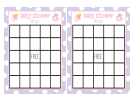 Baby Shower Bingo Template For Girls