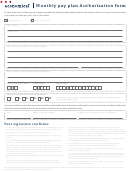 Monthly Pay Plan Authorization Form
