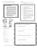 Weekly Practice Journal Template