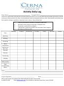 Activity Daily Log Template - Cerna Homecare