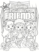 Strawberry Shortcake Coloring Sheet