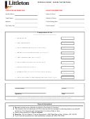 Special Event - Sales Tax Return Form