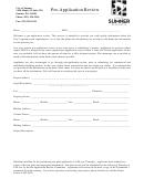 Pre-application Review Form - City Of Sumner, Washington