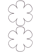 Two Large Flowers Template