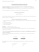 Solving Quadratic Equations By Factoring Worksheet With Answer Key - Tallahassee Community College