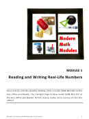 Reading And Writing Real-life Numbers Worksheet