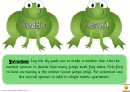 Lilypad Number Line Game Template
