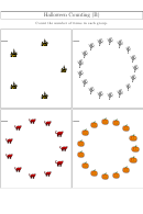 Halloween Counting (b) Worksheet With Answers