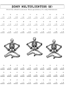 Scary Multiplication (h) Math Worksheet With Answer Key
