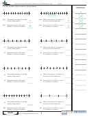 Determining Fraction Value On A Number Line Worksheet With Answer Key