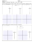 Algebra 2 - Chapter 4 Practice Test (4.1, 4.2, 4.9, 4.10) Worksheet