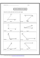 Vertex And Sides Of An Angle Worksheet With Answer Key
