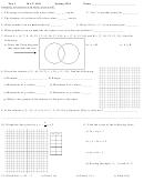 Test 1 Mat 1101 Worksheet - 2011