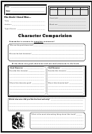 Character Comparision Worksheet