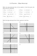 Slope-intercept Worksheet With Answer Key