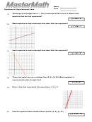 Equations In Slope-intercept Worksheet With Answer Key