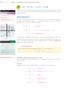 The Point-slope Form Worksheet With Answer Key