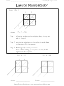 Lattice Multiplication 2-digit By 2-digit Worksheet