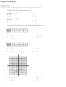 Functions Review Worksheet With Answers