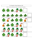 St. Patrick's Day Patterns Worksheet With Answers