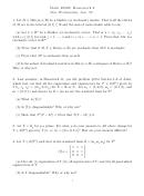 Math 20820 Statistics Worksheet