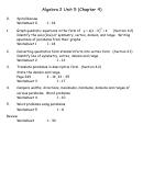 Algebraic Manipulation Worksheets - Algebra 2 Unit 5 (chapter 4) - Buchanan Math Department