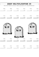 Scary Multiplication (b) Worksheet With Answer Key