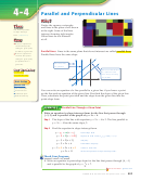 Lesson 4-4 Parallel And Perpendicular Lines Math Worksheet