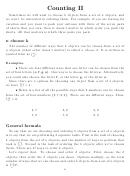 Counting Ii Statistics Worksheet