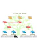 4 Generation Family Tree Template