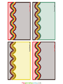 Rainbow Luck Editable Recipe Card Template