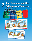 Real Numbers And The Pythagorean Theorem Worksheet - Chapter 7