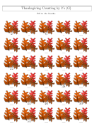 Thanksgiving Counting By 2's (g) Worksheet With Answer Key