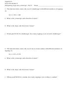 Interpreting Slope And Y-intercept - Algebra Worksheet