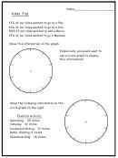 Class Trip Pie Chart Worksheet