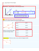 Trig Functions Of Acute Angles Worksheet