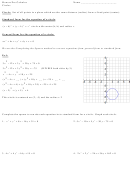 Circles Worksheet - Honors Pre-calculus