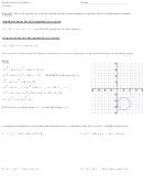 Circles Worksheet - Honors Pre-calculus Printable pdf